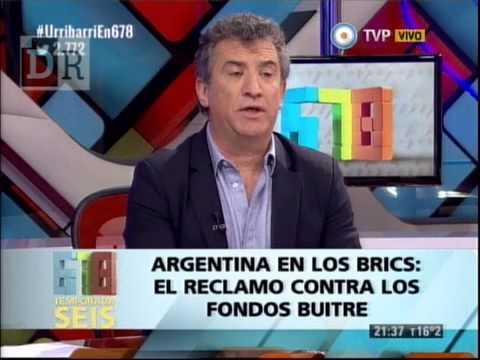 <b>Urribarri en 678.</b> Habl� sobre su participaci�n con CFK en el BRICS.