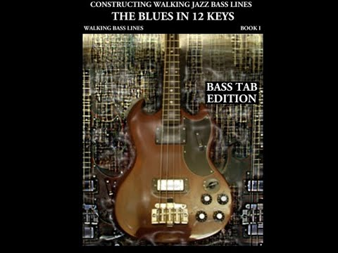 Bass guitar Jazz Bass Tab lesson - Walking Bass Line -  The Blues in C