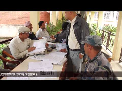 Candidates file thier candidacy in Lalitpur