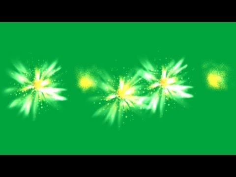 several machine gun muzzle fire - green screen effect