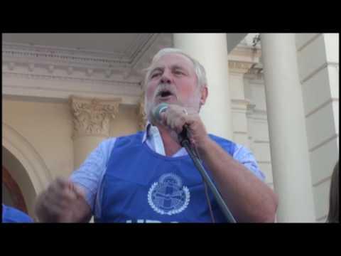 <b>Marcha de UPCN.</b> José Allende amenazó a Bordet con instalar carpas