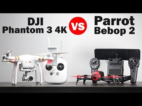 Parrot Bebop 2 vs DJI Phantom 3 4k - Drone Comparison