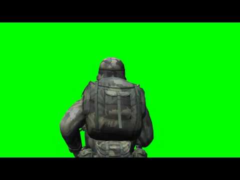 Soldier run - COD - green screen effects