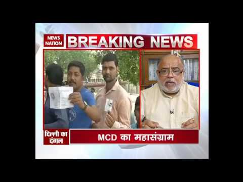 MCD election 2017: Ministers reach respective polling booths to cast their votes