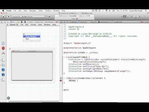 Cocoa Programming L32 - Status Bar App