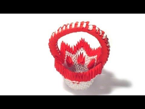 3d origami flower basket tutorial -POL1rmYeWLI