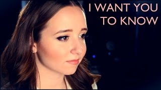 I Want You To Know - Selena Gomez and Zedd (Cover by Ali Brustofski - Official Music Video)