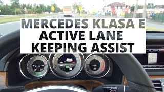 Mercedes-Benz Klasy E - system Active Lane Keeping Assist