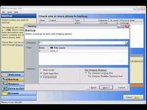 Runtime Software DriveImage XML tutorial