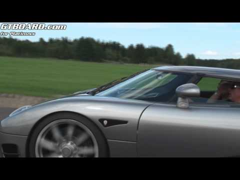 Koenigsegg CCR Evolution in action vs Ferrari 599, Porsche Carrera GT  and 911 Turbo PDK + more