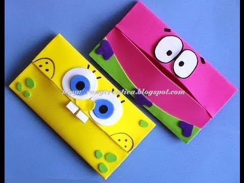 COMO HACER PORTAKLEENEX INFANTIL/ SpongeBob carries scarves DIY