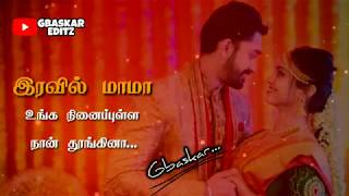 Tamil WhatsApp Status Lyrics Manasa Madichi Nee Than Song Awesome Lines GBaskar
