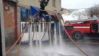 Russian Firefighters Play with Water