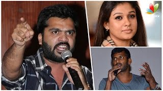 Watch Nayanthara is Behind the Rivalry Between Vishal and Simbu | Nadigar Sangam election Red Pix tv Kollywood News 09/Oct/2015 online