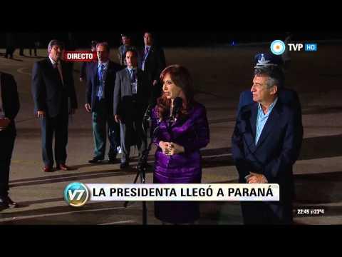 <b>Cumbre del Mercosur. Cristina arrib� a Paran�.</b>