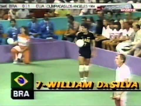 '84 Men's Olympic Volleyball: USA vs Brazil Game 2