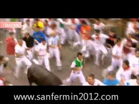 Quinto encierro San Fermin 2012 . 5º encierro corrido el 11 de julio de 2012