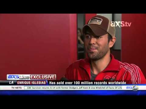Exclusive interview for AXS Live Enrique Iglesias talks about his single Finally Found You