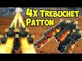 War Robots 4x Trebuchet Patton - Insane Skirmish Sniping Gameplay WR
