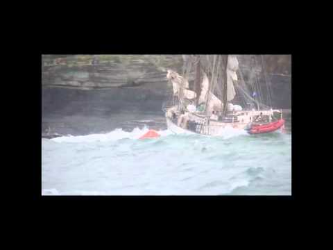 Astrid Hits The Rock Off The Cork Coast and Sinks
