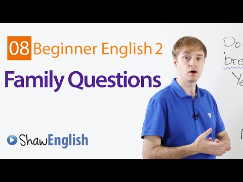 Asking Family Questions in English