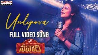 Undipova Full Video Song || Savaari