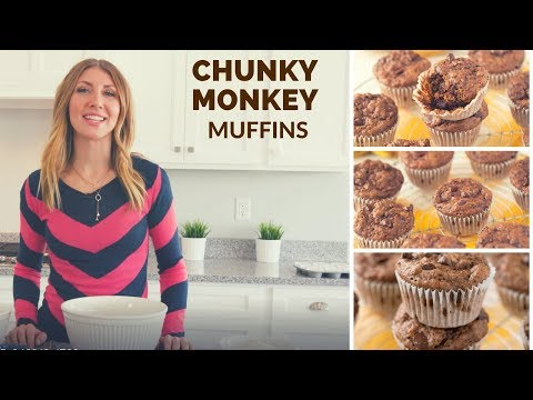 Chunky Monkey Muffins (Banana and chocolate!)