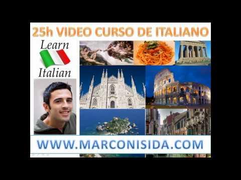 Video Curso de Italiano - Aprender Italiano - 50 Clases Interactivas