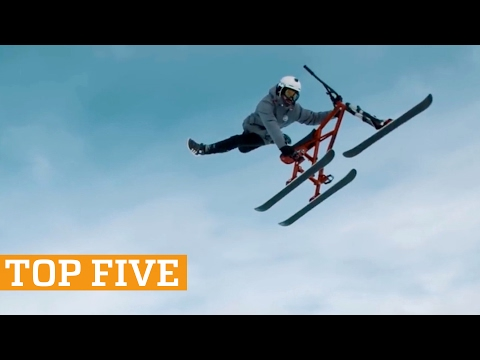 TOP FIVE: Snowbiking, Freerunning & Kettlebell Swings | PEOPLE ARE AWESOME 2017 - UCIJ0lLcABPdYGp7pRMGccAQ