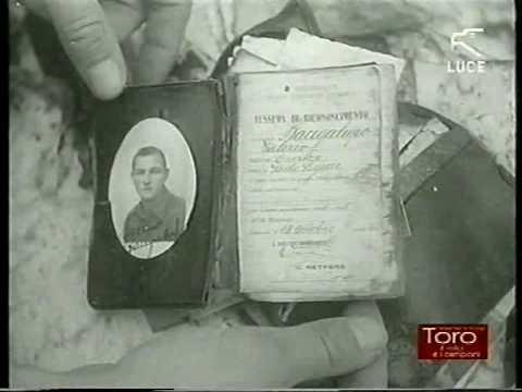 """""""La Settimana Incom"""" morte Grande Torino Superga 4 maggio 1949 Istituto Luce"""