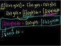 Фрагмент с средины видео - Indefinite Integration (part V)