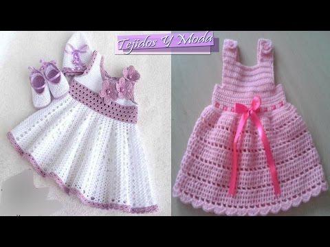 Tutorial Vestido Crochet o Ganchillo Niña ZigZag - Favarit Video