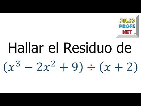 Aplicación del Teorema del Residuo