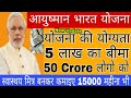 What is Ayushman Bharat Scheme, Eligibility, benefit Launch and earn 15000 Rs monthly,