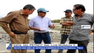 PETACC recepciona obra de Defensas Ribereñas