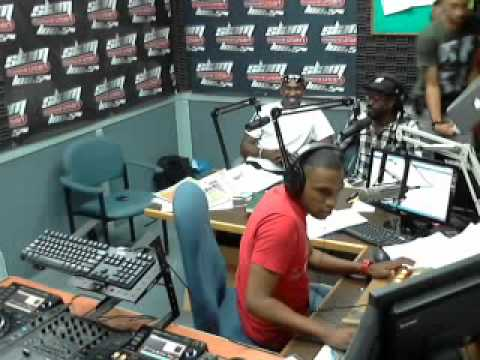 Beenie Man and Dwayne Bravo at Slam 100.5fm to release Badman Soca