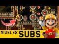 UNA PRECISIÓN QUE HACE SUFRIR A MARIO 😲- Niveles de Suscriptores #33 | Super Mario Maker - ZetaSSJ