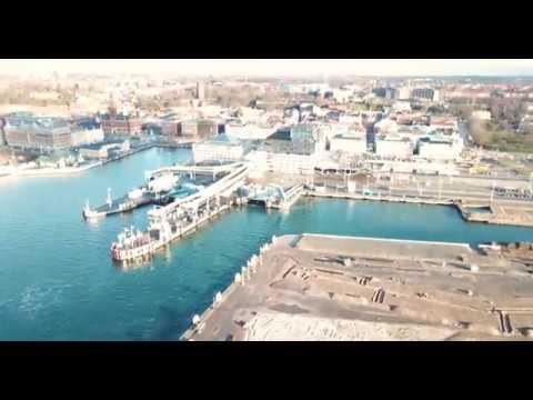 Helsingborgs hamnområde H+ Oceanhamnen [Drönare 4K]