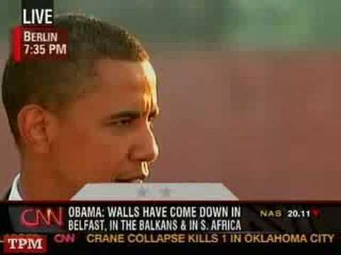 Barack Obama Speech from Berlin, Germany