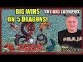 ♠️ BONUS ROUNDS ♠️ + BIG WIN$ ON 5 DRAGONS 🔥