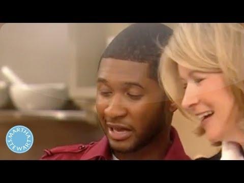 Usher Bakes Peppery Cheese Crackers - Martha Stewart