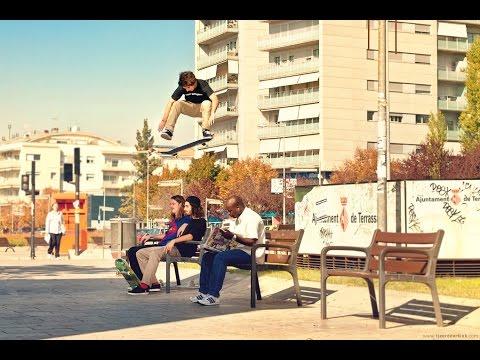 Подборка трюков на скейте