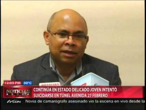 Continúa en estado delicado joven intentó suicidarse en túnel avenida 27 Febrero