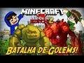 Minecraft: - A Lenda de Redstone 2 - Batalha de Golems! #4