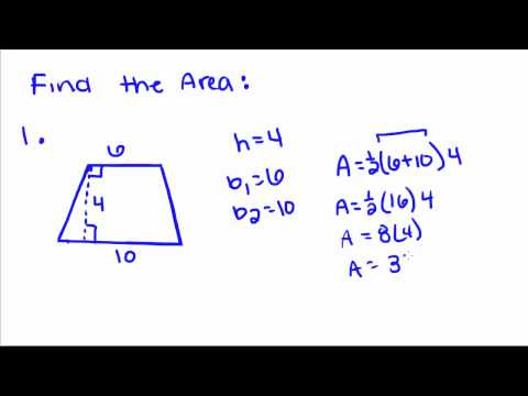 Introduction to Geometry - 54 - Area of a Trapezoid