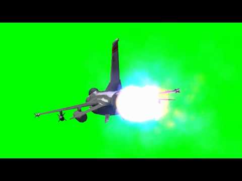 F16 Lockheed Jet aircraft - Free Green Screen -Q6GWtDRr_nM