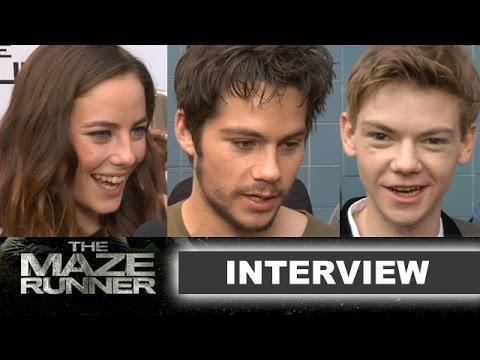 The Maze Runner Interview 2014 : Dylan O'Brien, Kaya Scodelario - Beyond The Trailer