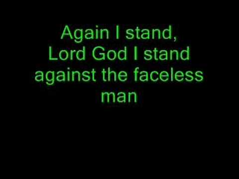 Lyrics to Creed - Faceless Man