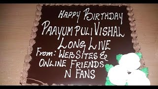 Watch Media and Fans Celebrate Vishal's Birthday Red Pix tv Kollywood News 27/Aug/2015 online