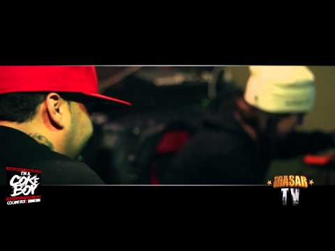 "Chinx Drugz, French Montana & Harry Fraud Recording ""I'm a coke boy"" [Dir./Edited By Masar]"